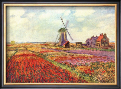 Tulips in Holland Claude Monet