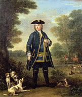 -Sir Robert Walpole as Master of the King's Staghounds in
