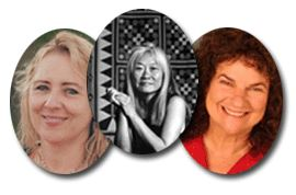 Kate Gale, Maxine Hong Kingston & Shelley Savren