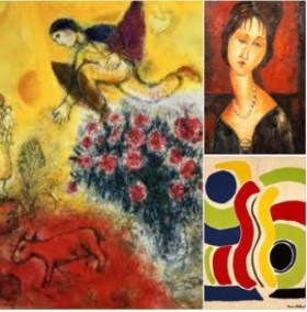 Marc Chagall, Amedeo Modigliani,and Sonia Delaunay ~ Three Artists of Uncommon Beauty