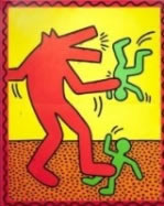 painting by Keith Haring