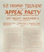 1965 Benefit for SF Mime Troupe