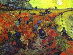 "Van Gogh The Red Vineyards"".painted in Arles, 1888"